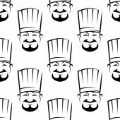 Smiling chefs seamless background pattern — Stock Vector