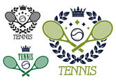 Tennis championship emblems or badges — Stock Vector