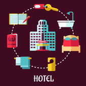 Hotel service flat design — Stock Vector