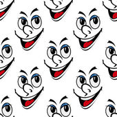 Happy smiling face seamless background pattern — Vecteur