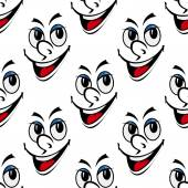 Happy smiling face seamless background pattern — Vector de stock