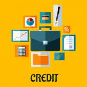 Credit concept in flat style — Stock Vector