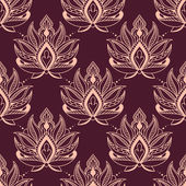 Burgundy and pink damask floral pattern — Stock Vector