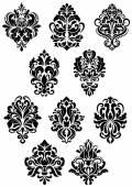 Foliate arabesque design elements — Stock Vector
