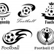 Football and soccer emblems or badges — Stock Vector #57076157