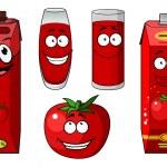 Fresh tomato and tomato juice — Stock Vector #57076431