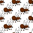 Cute little cartoon ant seamless pattern — Stock Vector #57076567