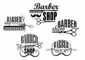 Barber Shop badges or signs set — Stock Vector