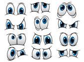 Funny cartoon eyes set — Stock Vector