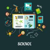 Creative science flat concept — Stock Vector