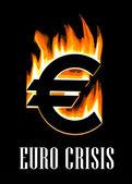 Euro crisis concept — Stock Vector