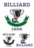 Billiard ball icons or emblems — Stock Vector