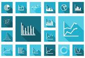 Flat charts and graphs set — Stock Vector