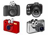 Cartoon digital cameras — Stock Vector