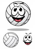Happy cartoon volleyball — Stockvector