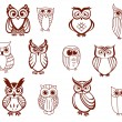 Set of vector owls — Stock Vector #57651199