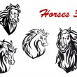 Cartoon horse characters — Stock Vector #57651497