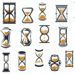 Hourglasses and egg timers set — Stock Vector #57651823