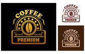 Premium Coffee label or badge — Stock Vector