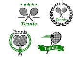 Tennis icons and emblems — Stock Vector