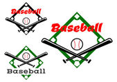 Baseball labels or badges — Stock Vector