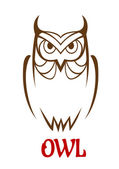 Wise old owl sketch — Stock Vector