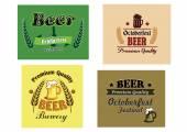 Beer advertising posters — Stock Vector