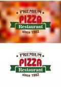 Premium Pizza Restaurant sign — Stock Vector
