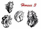 Cartoon horse characters — Stock Vector