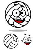 Cartoon cute volleyball ball — Stock Vector