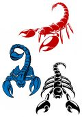 Dager scorpion tattoos — Stock Vector