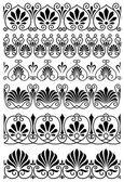 Vintage black and white ornamental borders — Stock Vector