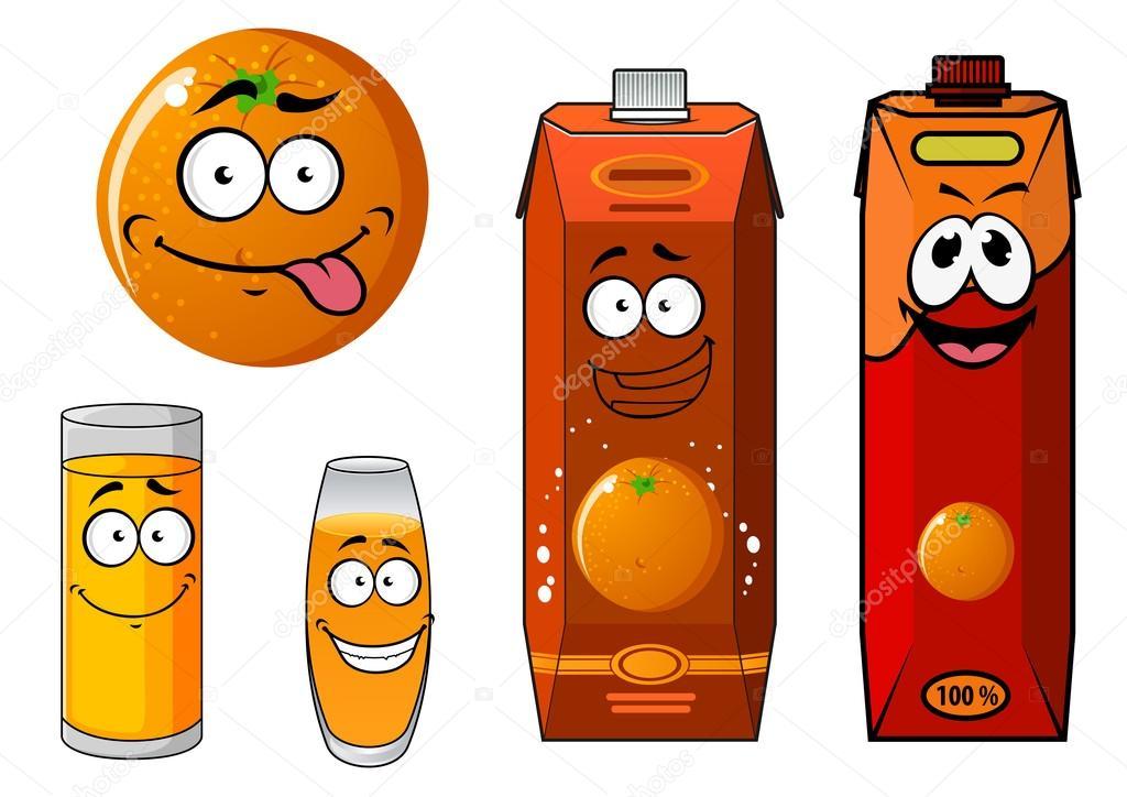 Juice Cartoon Cartoon Orange And Juice