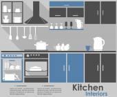 Kitchen Interior infographic design — Stock Vector
