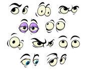 Cartoon-Augen mit unterschiedlichen Ausdrucksformen — Stockvektor