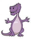 Cute cartoon dinosaur — Stock Vector