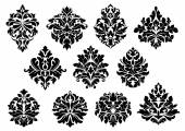 Set of floral and foliate floral motifs — Stock Vector