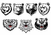 Bear mascots with different expressions — Stock Vector