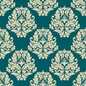 Dainty damask style seamless pattern — Stock Vector