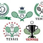Assorted tennis tournament symbols — Stock Vector #58758575