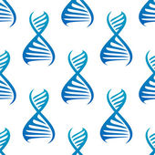 Blue DNA seamless pattern — Stock Vector