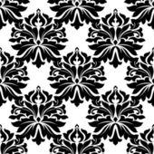 Black classic damask seamless pattern — Stock Vector