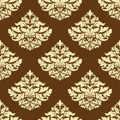 Yellow and brown floral seamless pattern — Stock Vector