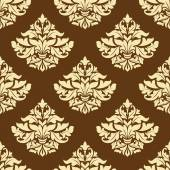 Yellow and brown floral seamless pattern — Vecteur