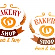 Bakery Shop and pretzel sign — Stock Vector #59236983