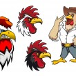 Cartoon roosters or cocks — Stock Vector #59237057