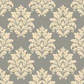 Vintage floral beige seamless pattern — Cтоковый вектор