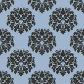 Gothic floral seamless pattern with gray flowers — Stock Vector
