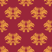 Simple bold arabesque seamless pattern — Stock Vector