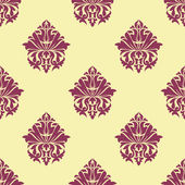 Purple and cream arabesque seamless pattern — Stock Vector